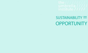 Sustainability – Opportunity rather than a risk